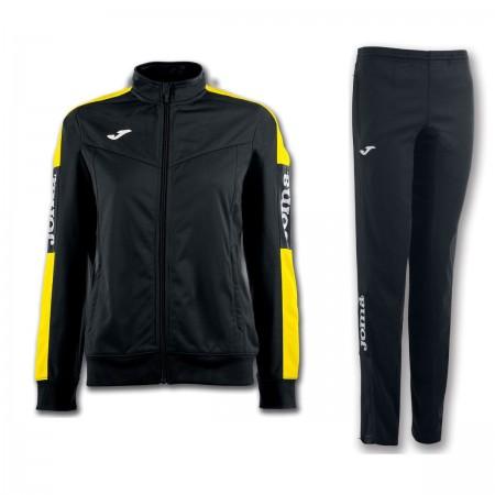 Trening dama Joma Champion IV bluza negru/galben, pantalon negru