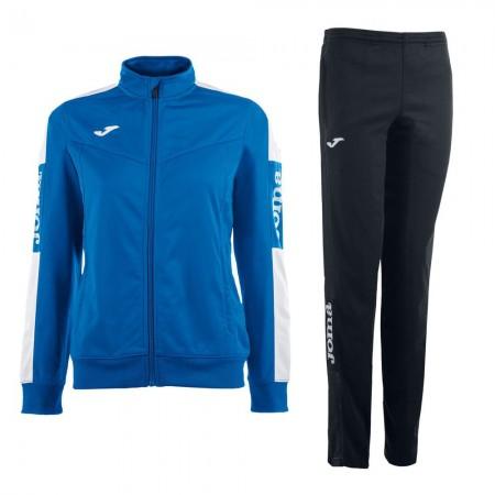 Trening dama Joma Champion IV bluza albastru/alb, pantalon negru