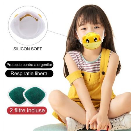 Masca protectie copii tip Smart cu ventilatie si filtru purificator
