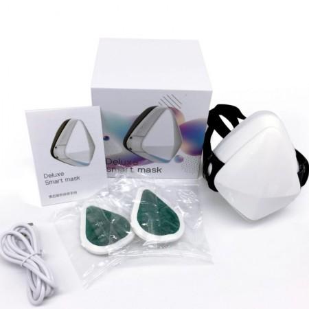 Masca de protectie Smart Deluxe cu ventilatie, filtru purificator de carbon activ PM2.5