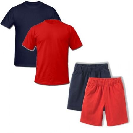 Echipament sport copii tricou si short bumbac