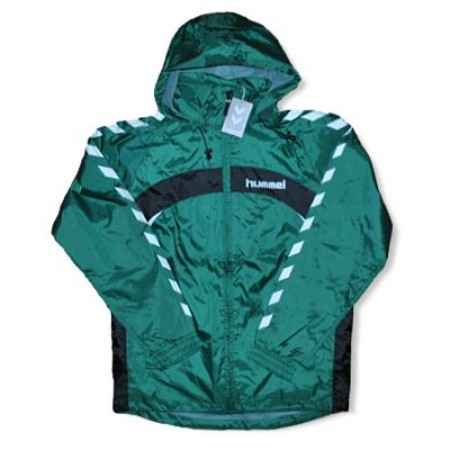 Geaca Hummel Windbreaker verde-negru