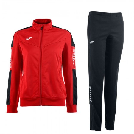 Trening dama Joma Champion IV bluza rosu/negru, pantalon negru