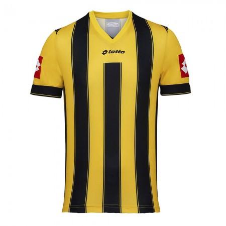 Tricou copii 8-10 ani Lotto Vertigo Evo, fotbal, galben/negru