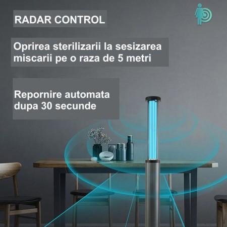 Lampa profesionala UV-C+Ozon, dezinfectie, sterilizare, pentru sali de sport, vestiare, scoli, cluburi sportive